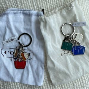 Coach Charm Keychain & dustbag NWT